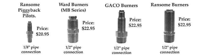 Propane Natural Gas Orifice Charts Ward Burner Systems